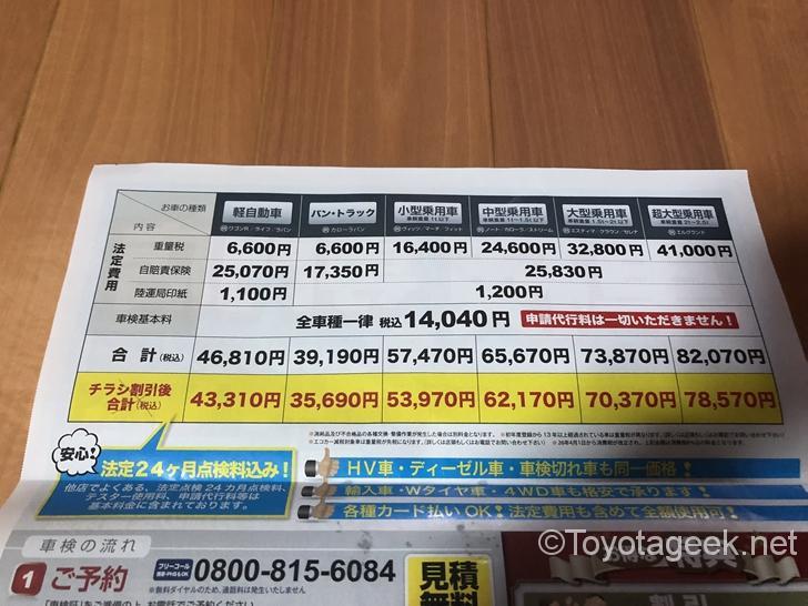 車検の速太郎価格表